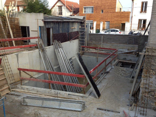 Construction d'une piscine