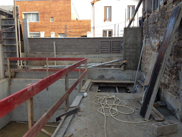 Travaux en sous sol r alis s r f rences eurobarrere for Piscine 75018