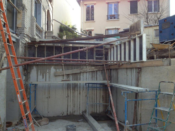 Travaux en sous sol ralis s rfrences eurobarrere for Piscine 75018